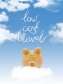 "Piggy bank on a cloud with ""low cost travel"" textand blue sky - PhotoDune Item for Sale"