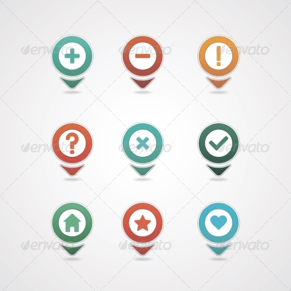 GraphicRiver Mapping Pins Icon 8376014