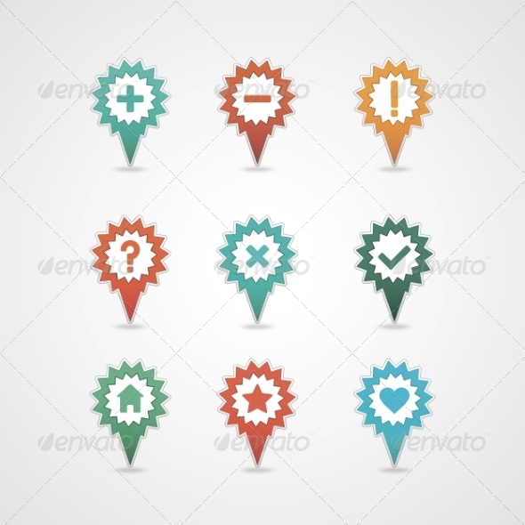 GraphicRiver Mapping Pins Icon 8376034