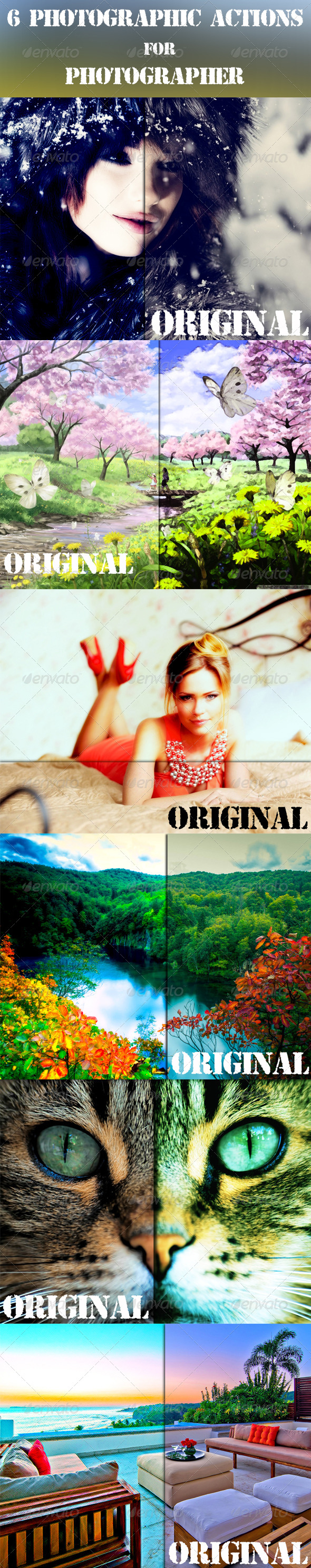 GraphicRiver 6 Photographic Actions For Photographer 8376057
