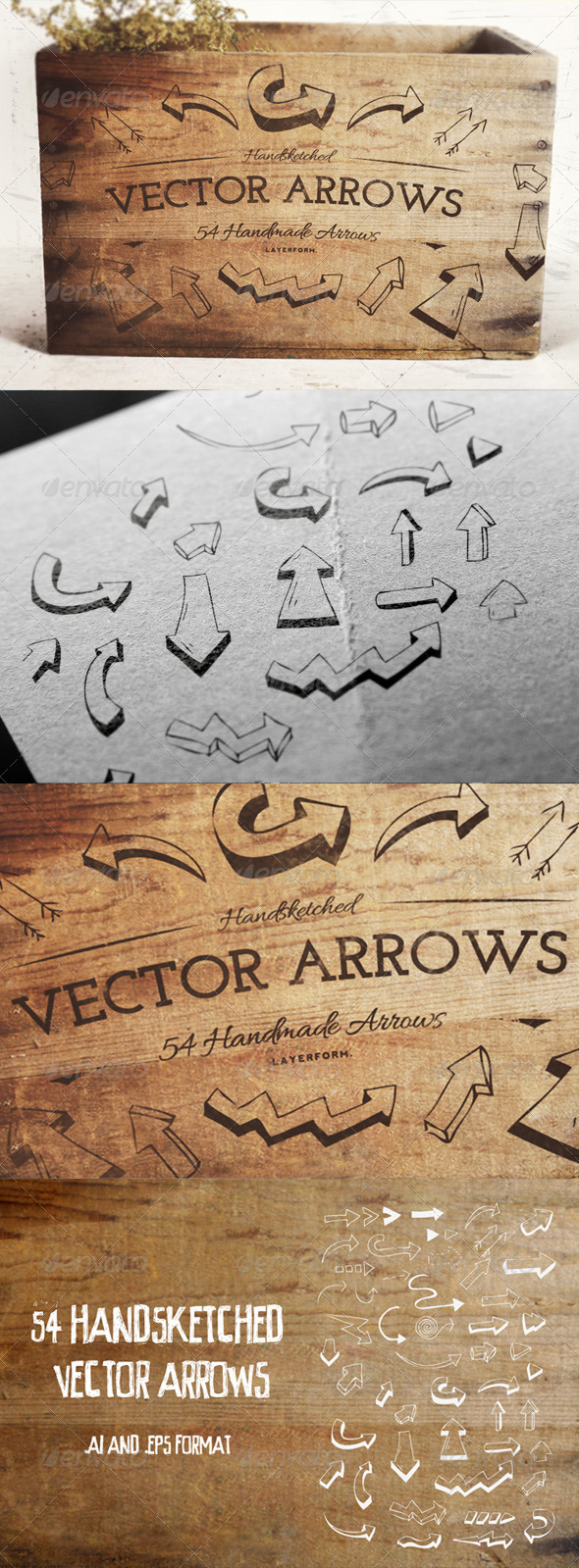 GraphicRiver 54 Handsketched Arrows 8376056
