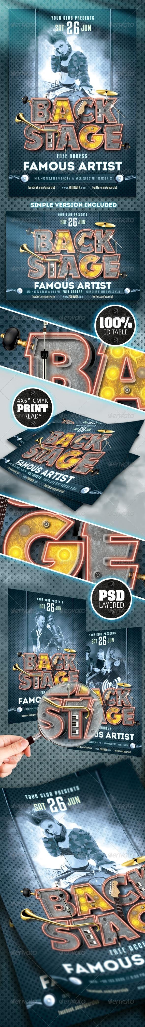 GraphicRiver Backstage Flyer 8376099