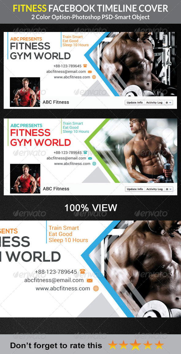 GraphicRiver Fitness Facebook Timeline Cover 8376317