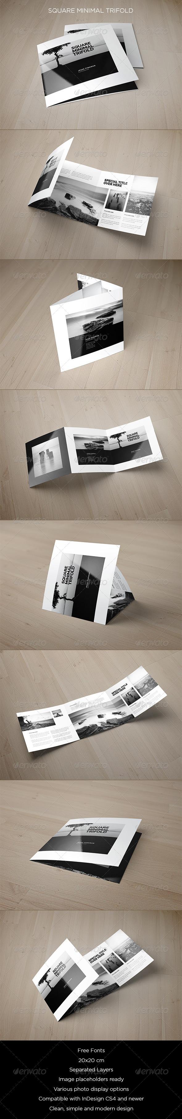 GraphicRiver Square Minimal Trifold 8376472