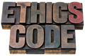 ethics code in wood type - PhotoDune Item for Sale