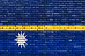 flag of Nauru painted on brick wall - PhotoDune Item for Sale
