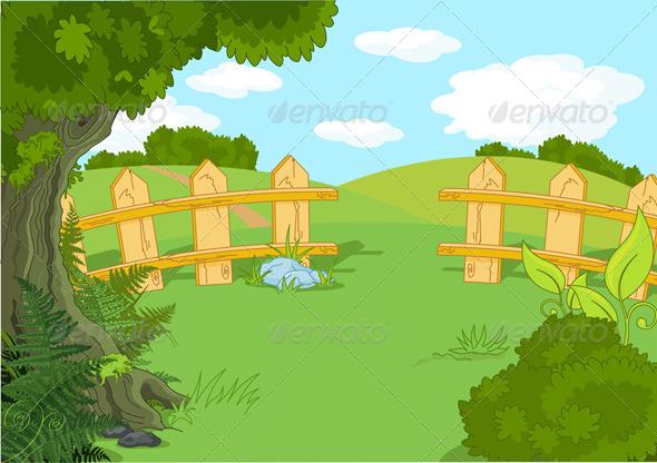 GraphicRiver Idyllic Landscape 8376557