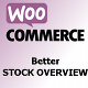WooCommerce Better Stock Overview