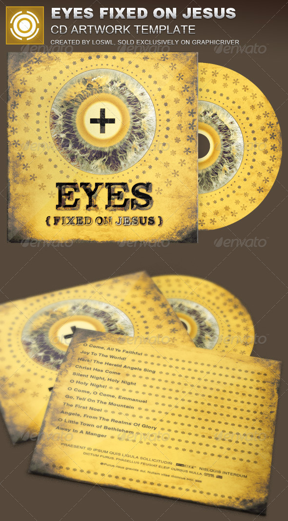 GraphicRiver Eyes Fixed on Jesus CD Artwork Template 8376668