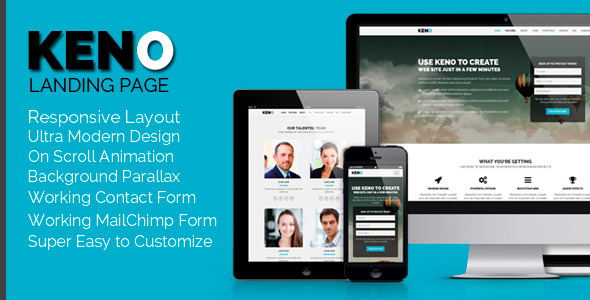 ThemeForest Keno Flexible and Responsive HTML5 Landing Page 8376705