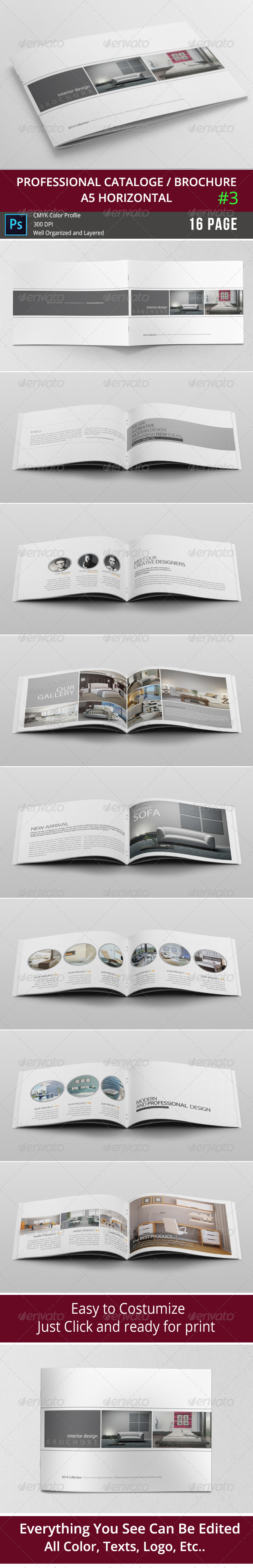 GraphicRiver Simple & Clean A5 Catalogue 3 8376709