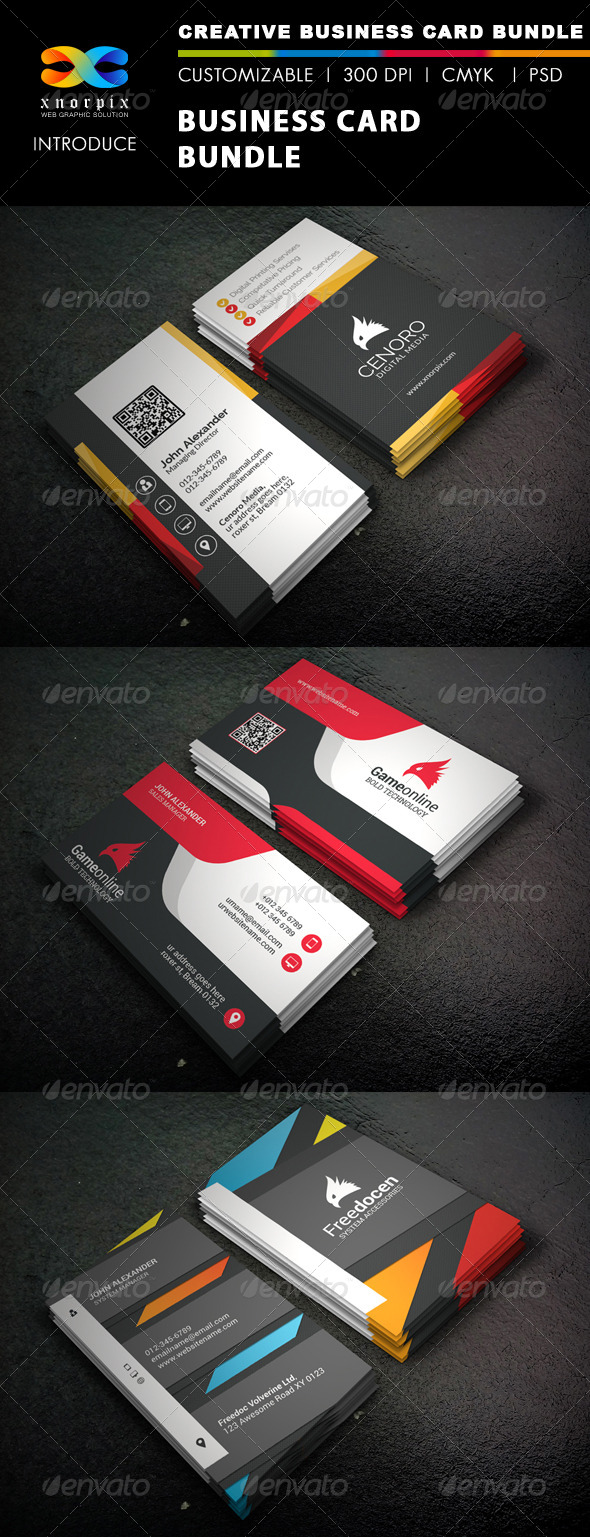 GraphicRiver Business Card Bundle 3 in 1-Vol 39 8376747