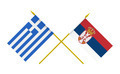 Flags of Greece and Serbia, 3d Render, Isolated on White - PhotoDune Item for Sale