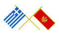 Flags of Montenegro and Greece, 3d Render, Isolated on White - PhotoDune Item for Sale