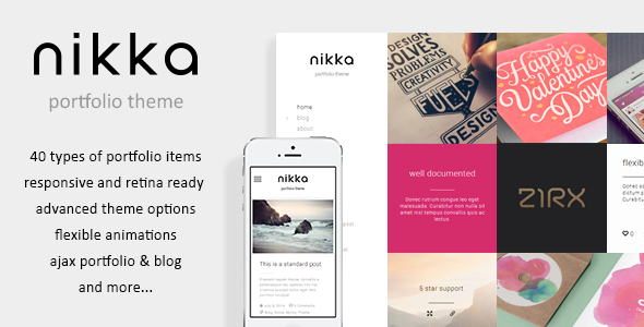 ThemeForest Nikka AJAX Portfolio WordPress Theme 8273610
