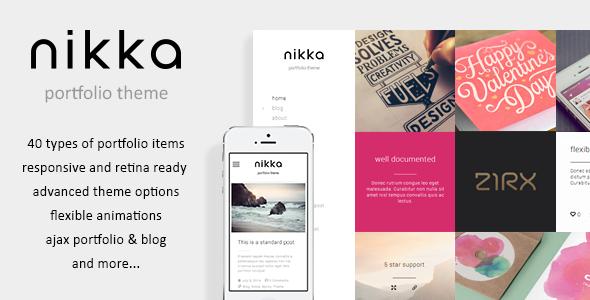 ThemeForest Nikka AJAX Portfolio WordPress Theme 8273610