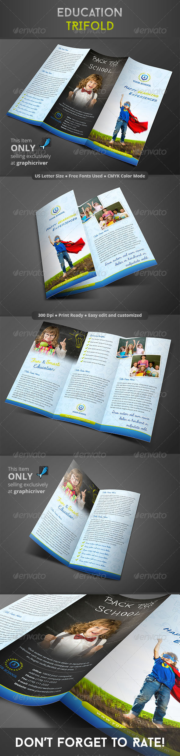 GraphicRiver Education Trifold 8373208