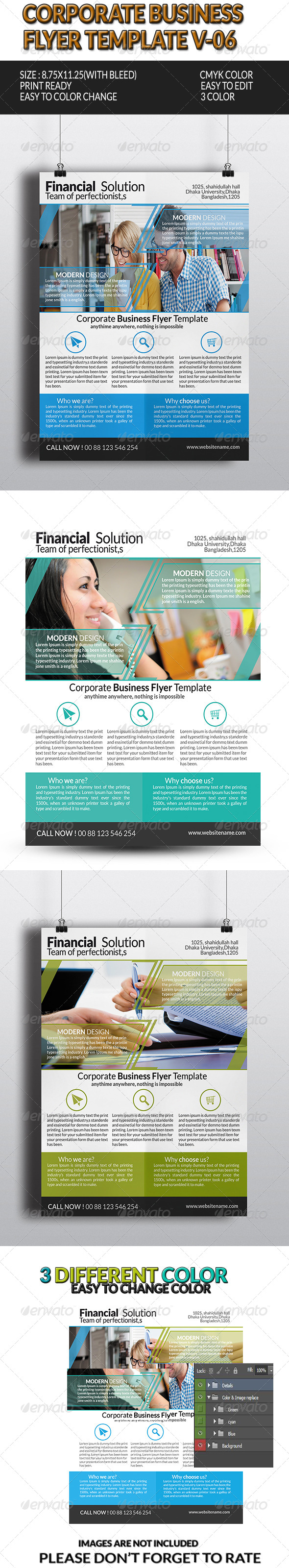 GraphicRiver Corporate Business Flyer Template V-6 8376968