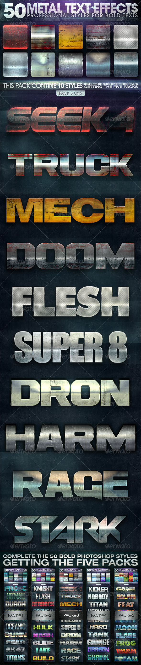 GraphicRiver 50 Metal Text Effects 3 of 5 8377488