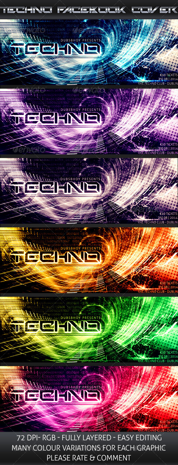 GraphicRiver Techno Event Cover 8377500
