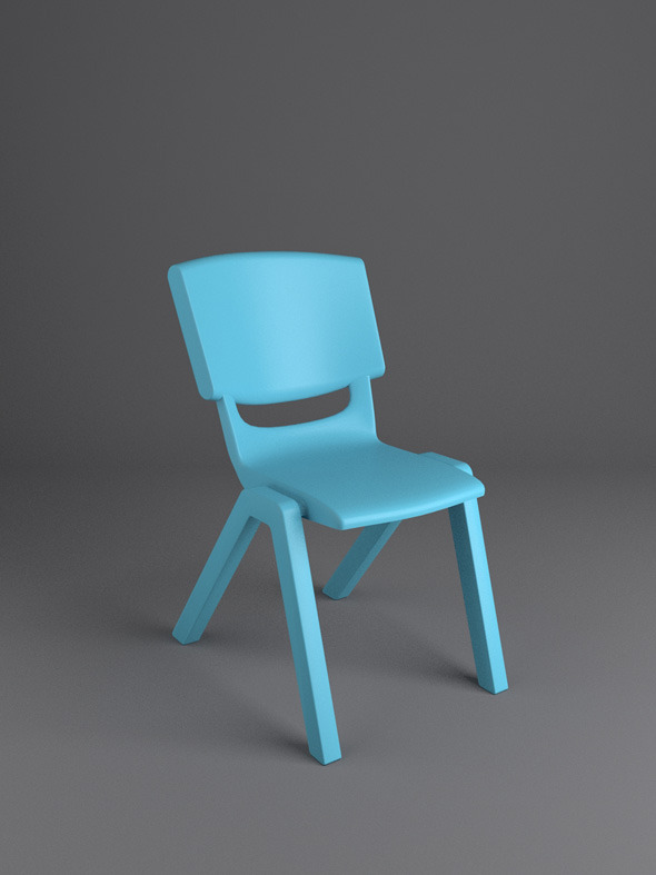Postura Ergonomic School Chair - 3DOcean Item for Sale
