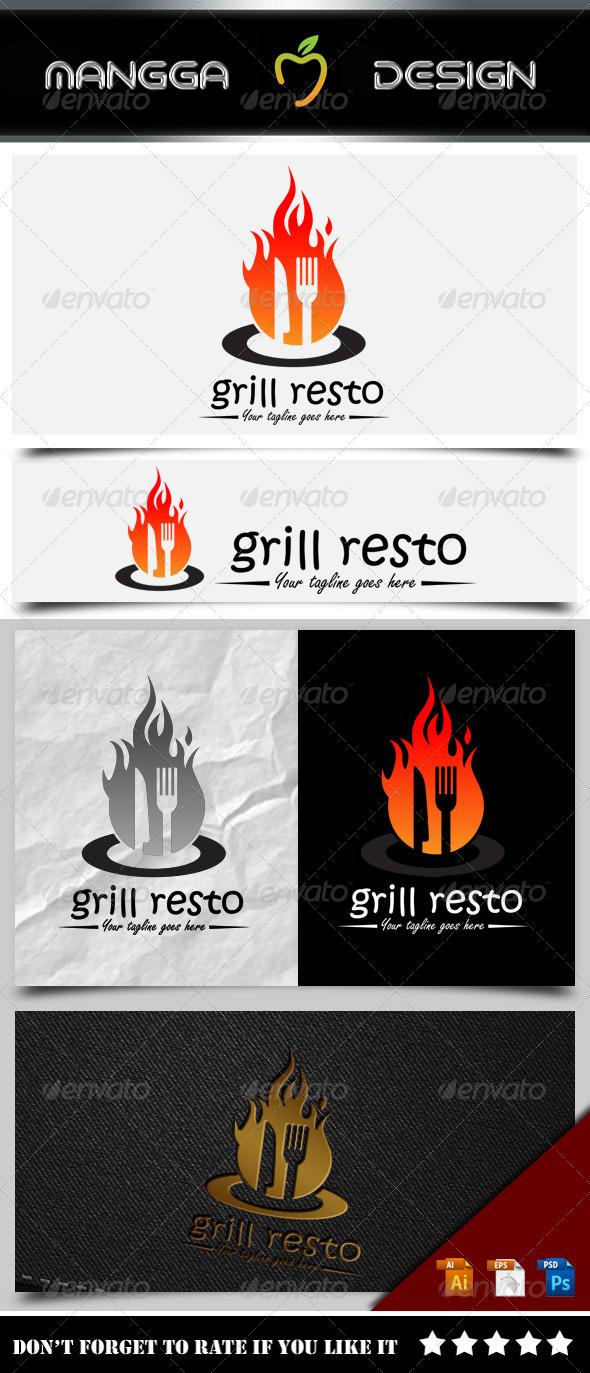 GraphicRiver Grill Resto Logo 8377538