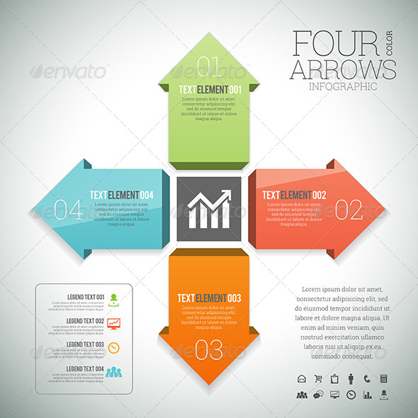 Four Color Arrows Infographic