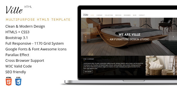 Ville - Responsive Multipurpose HTML5 Template - Corporate Site Templates