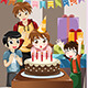 Kids Celebrating Birthday Party - GraphicRiver Item for Sale
