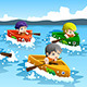 Kids in a Boat Race - GraphicRiver Item for Sale