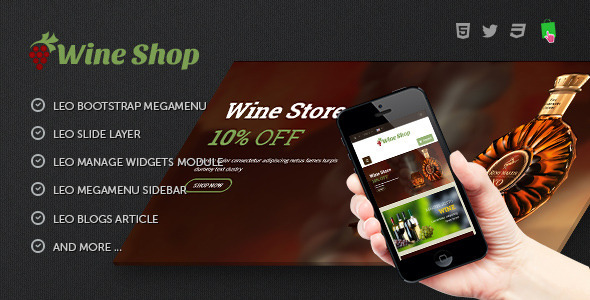 ThemeForest Leo Wine Store Theme 8386794