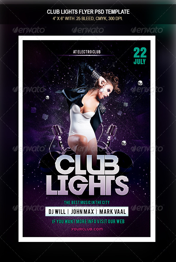 GraphicRiver Club Lights Flyer 8387009