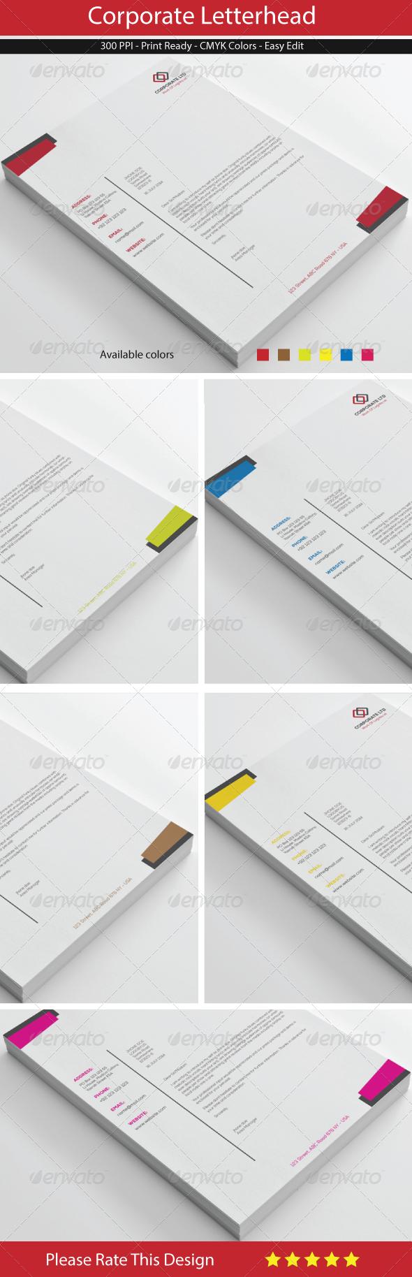 GraphicRiver Corporate Letterhead 8387094