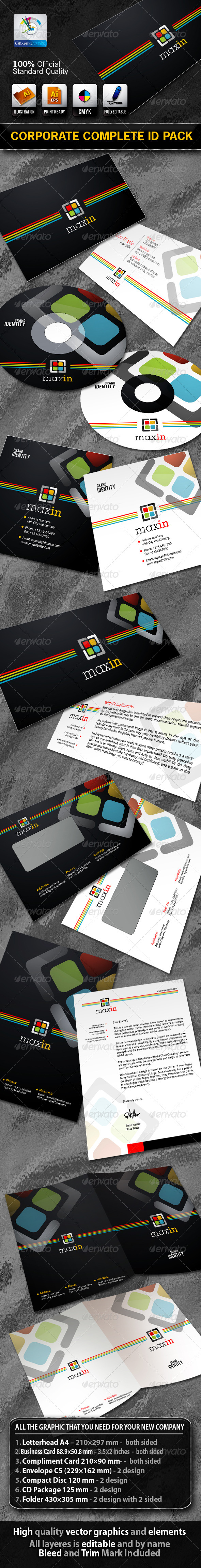 MaxIn Business Corporate ID Pack With Logo - Stationery Print Templates