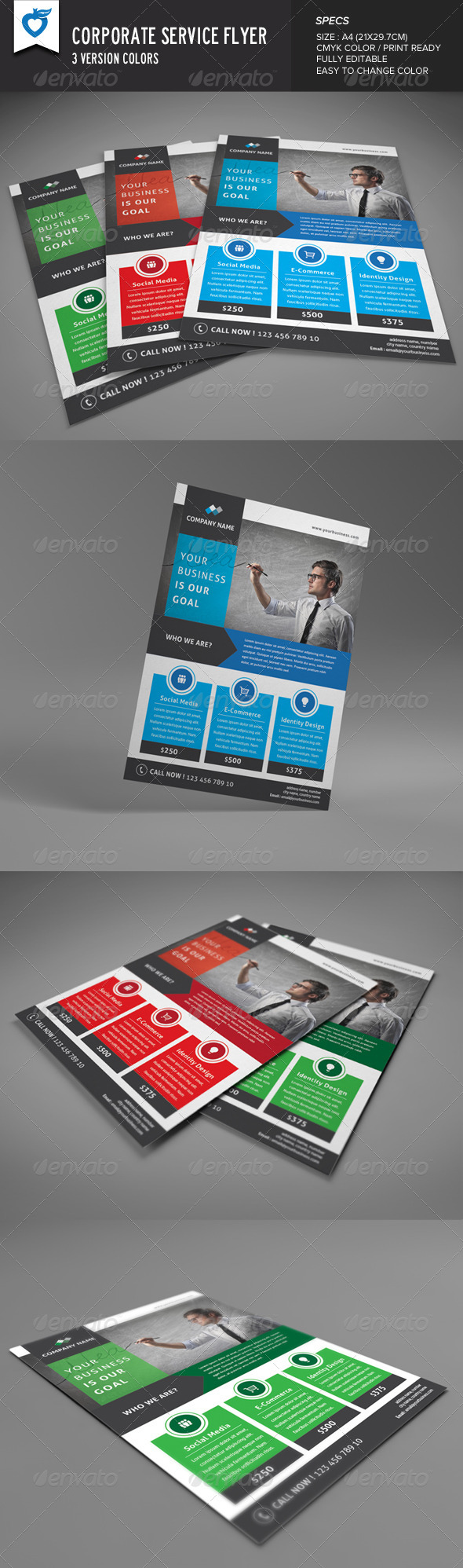 GraphicRiver Corporate Service Flyer 8387102