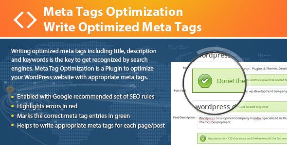 Meta Tags Optimization - Write Optimized Meta Tags - CodeCanyon Item for Sale