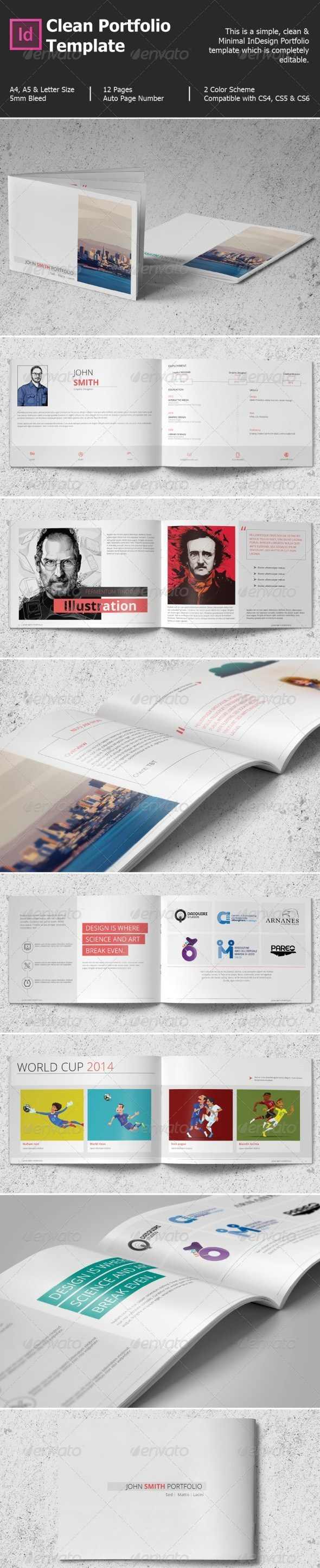 GraphicRiver Clean Portfolio Template 8387120