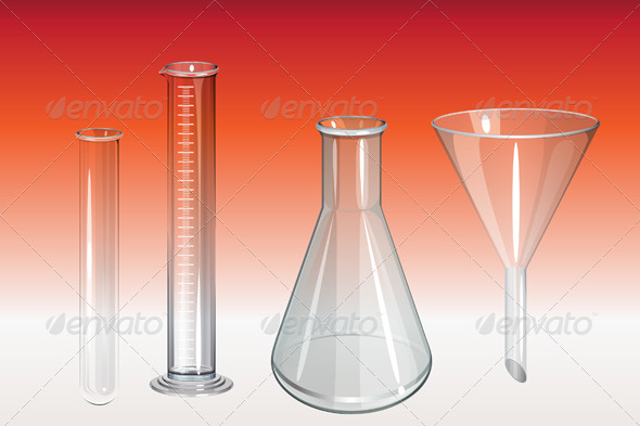 GraphicRiver Chemistry Lab Apparatus Illustration 8387291