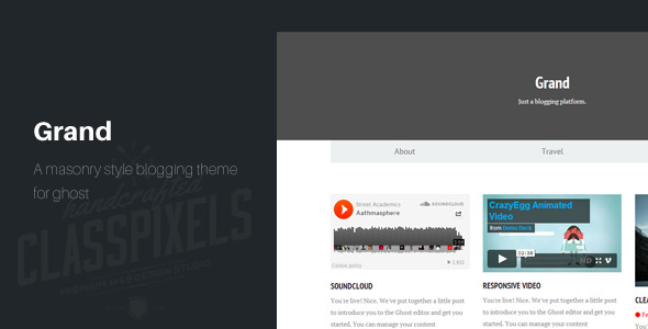 Grand: A Responsive Masonry Style Ghost Theme