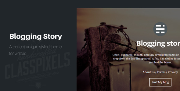 Blogging story HTML5 Blog template - Personal Site Templates
