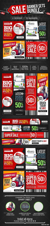 GraphicRiver Product Sale Banners Bundle 4 Sets 8387501