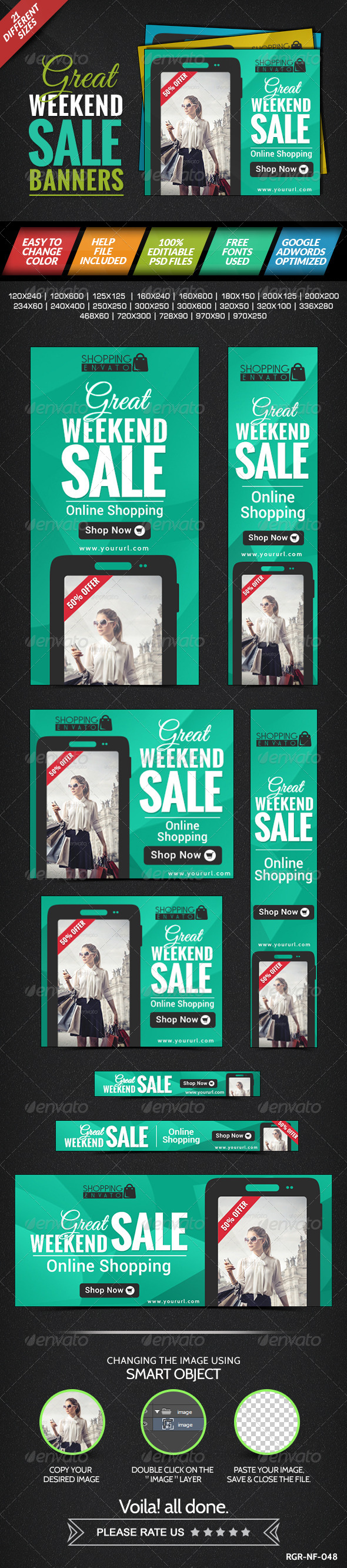 GraphicRiver Weekend Sale Banner 8387511