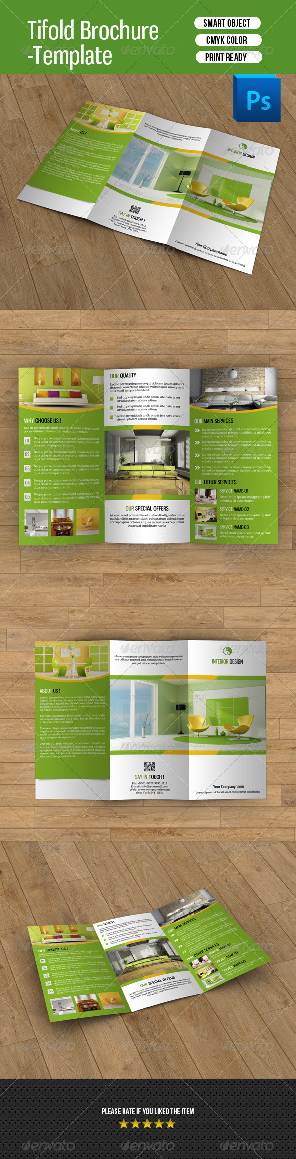 GraphicRiver Trifold Brochure for Interior Design-V39 8387512