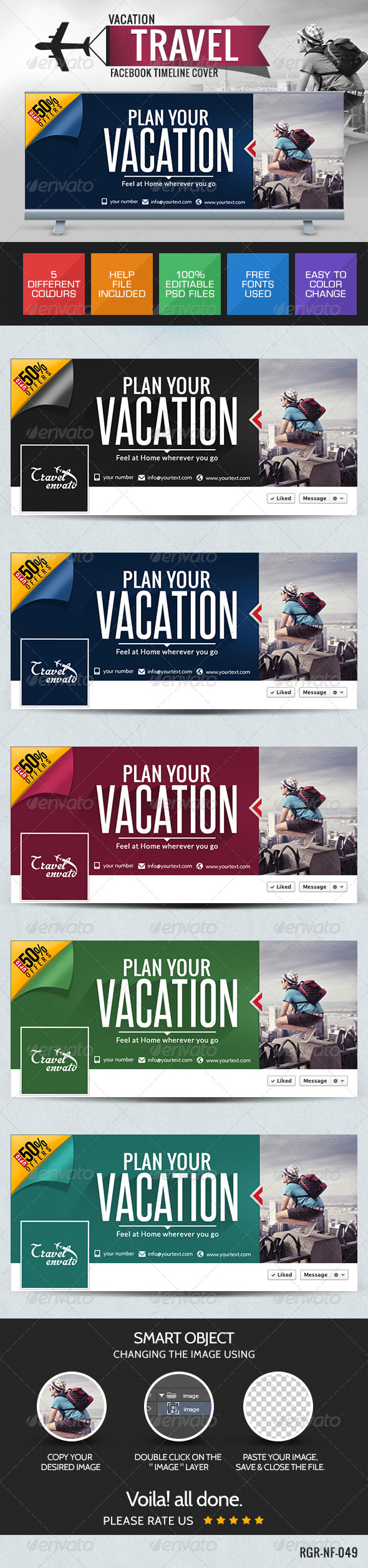 GraphicRiver Travel Deals Facebook Cover 8387513