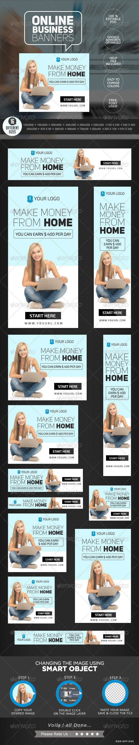 GraphicRiver Online Business Banners 8387514