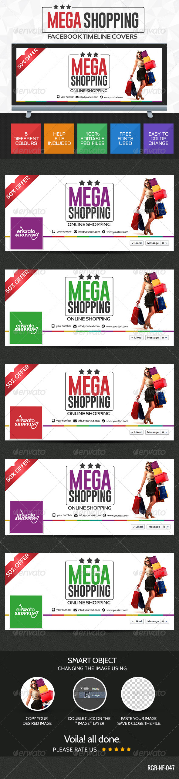 GraphicRiver Shopping Deals Facebook Cover 8387598