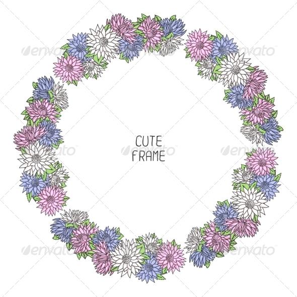 GraphicRiver Floral Frame 8387758