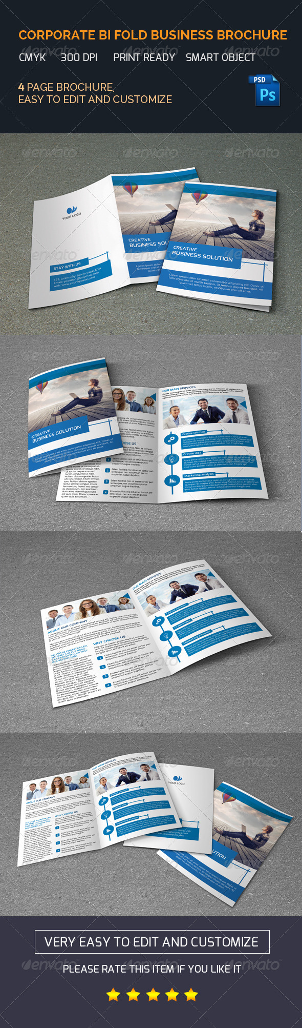 GraphicRiver Bifold Business Brochure-V100 8387773