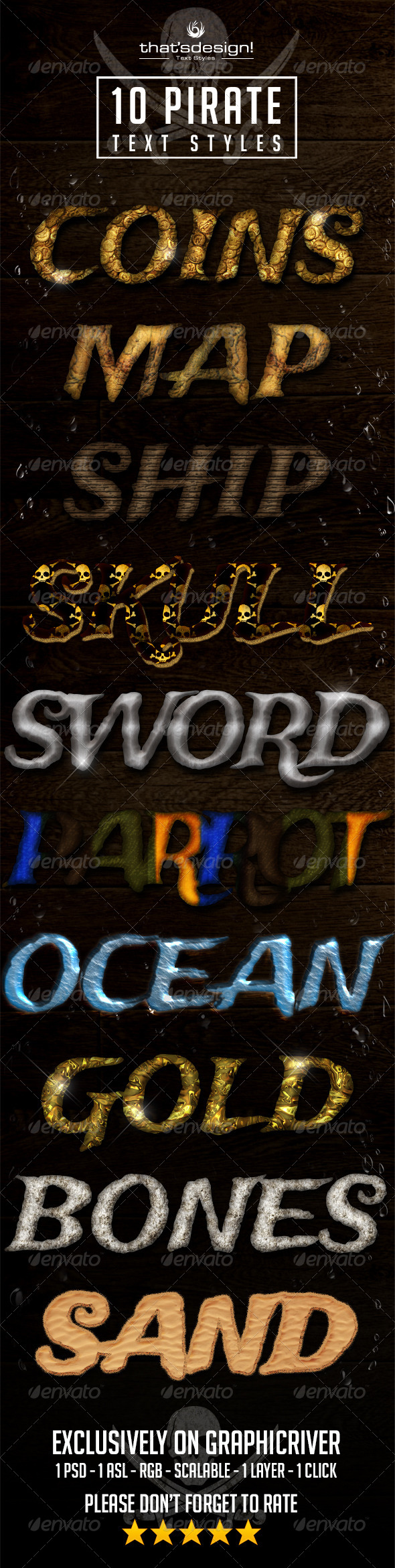 GraphicRiver 10 Pirate Text Styles 8388904