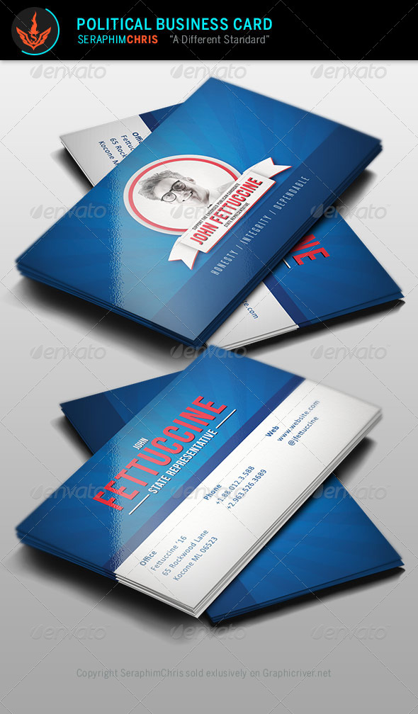GraphicRiver Political Business Card Template 8389422